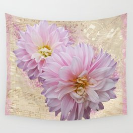 Pink Dahilas Wall Tapestry