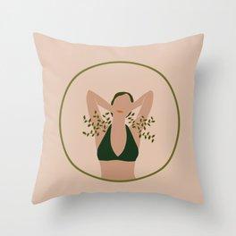 Planted Armpits Throw Pillow