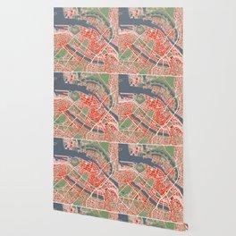 Copenhagen city map classic Wallpaper