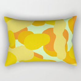 Warm and Cool Tone Terrazzo Rectangular Pillow