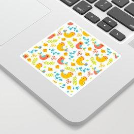 Easter Little Peeps Baby Chicks Pattern Sticker