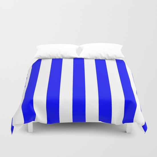 Vertical Stripes (Blue/White) Duvet Cover