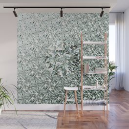 White Diamond Abstract Art Pattern 05 Wall Mural