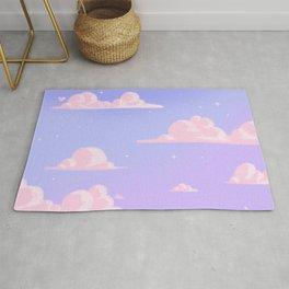 Pink Clouds Purple Sky Lo Fi Rug