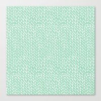 Hand Knit Mint Canvas Print