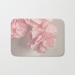 Frilly pink Carnations flowers. Bath Mat