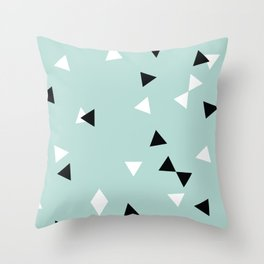 Simple Geometry / Triangles Throw Pillow