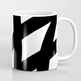 Abstract Black Lines Coffee Mug
