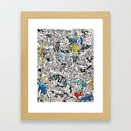 Kamasutra LOVE Doodle Closeup Color Valentine Framed Art Print