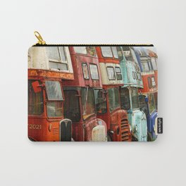 London Busses with Patina Carry-All Pouch