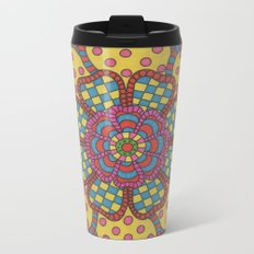 Country Flower Metal Travel Mug