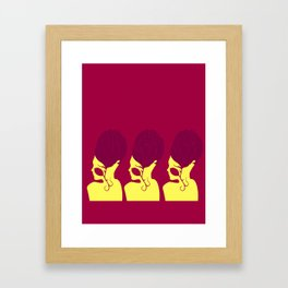 Tres Bonitas Framed Art Print