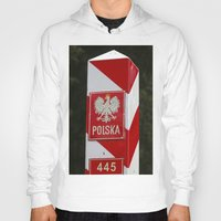 poland Hoodies featuring Frontier between Poland and Germany by Premium
