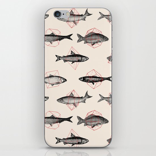 Fishes In Geometrics (Red) iPhone & iPod Skin