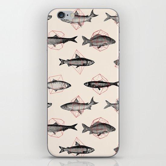 Fishes In Geometrics (Red) iPhone Skin