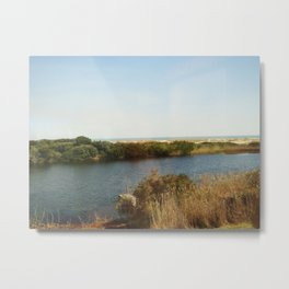 The pond by the Ocean Metal Print