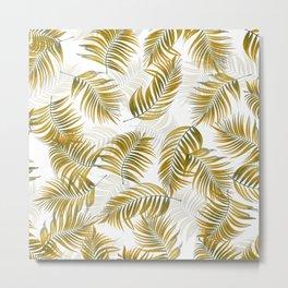 Design 166 brown leaves Metal Print