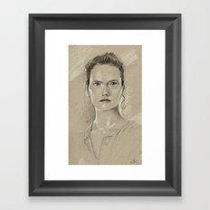 Rey sketch Framed Art Print