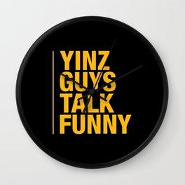 Yinz Guys Wall Clock