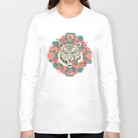 teal Long Sleeve T-shirts featuring bengal mandala by Laura Graves