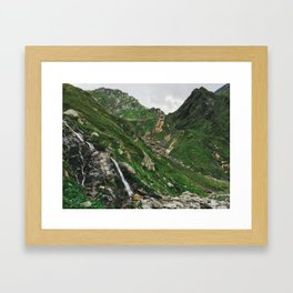 Green Alps Framed Art Print
