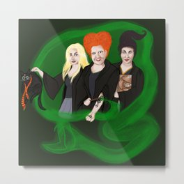 KITTY POTTER AND THE SANDERSON SISTERS' SPELL Metal Print