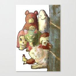 kawaii squad sloth catcorn unicat and friends! Canvas Print
