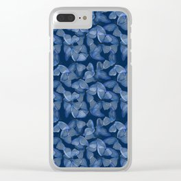 mariposa azul Clear iPhone Case