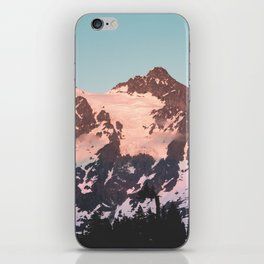 Pink Cascade Mountain iPhone Skin