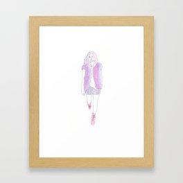 Typical Girl Camilla Framed Art Print