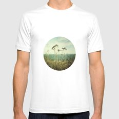Wind White MEDIUM Mens Fitted Tee