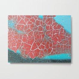 Paint Crackle Metal Print