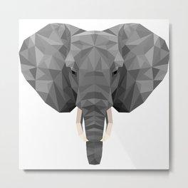 Indian Elephant Head Metal Print