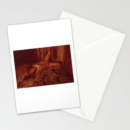 Rope tied in a Barn - Nude woman tiedup Stationery Cards