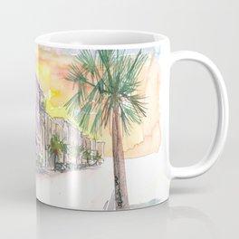 Charleston Street Scene With Sunset In South Carolina Coffee Mug