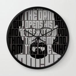 Heisenberg - The one who knocks! Wall Clock