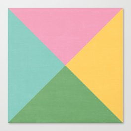 four triangles - spring Canvas Print