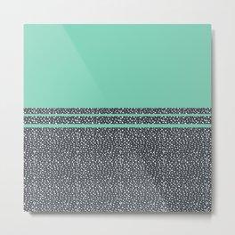 Lucite Green Dots Metal Print