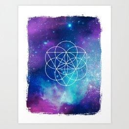 Egg Of Life Metaphysical Galaxy Art Print
