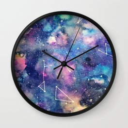 Cosmos Watercolor Wall Clock