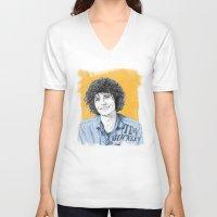 tim shumate V-neck T-shirts featuring Tim Buckley by Daniel Cash