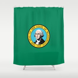 flag Washington,america,usa,Alki,Evergreen State, Washingtonian,Olympia,seattle,Spokane Shower Curtain
