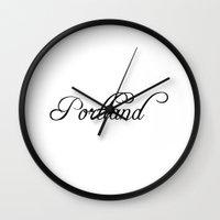 portland Wall Clocks featuring Portland by Blocks & Boroughs