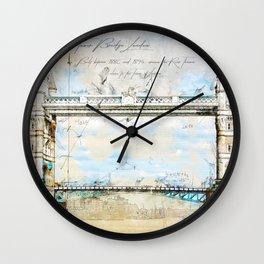 Tower Bridge, London England Wall Clock