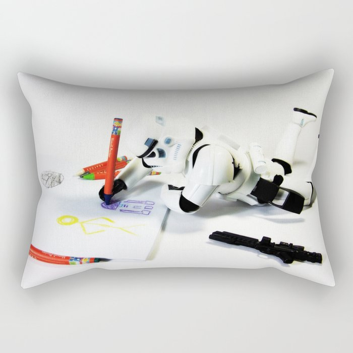 Drawing Droids Rectangular Pillow