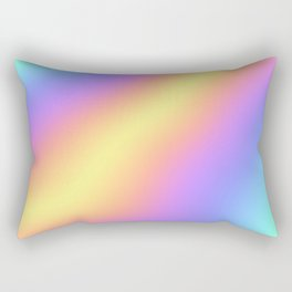 Colorful Gradient Abstract Rainbow Pattern Holographic Foil Rectangular Pillow