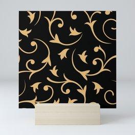 Baroque Design – Gold on Black Mini Art Print