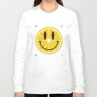 lemon Long Sleeve T-shirts featuring Lemon by Pifla