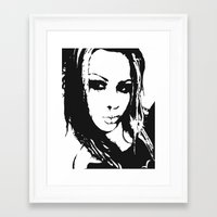 gore Framed Art Prints featuring Gore-geous by Jeremy V. Bennett