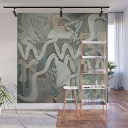 Weirdly Rustic Shapes Wall Mural